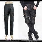 punk visual Knight diary metallic washed motorcycle Leather pants【PT03702】 G