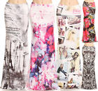 Floral Damask eiffel T Sublimation high waist fold over maxi long skirt S/M/L/XL