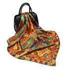 "Women's Fashion Print Square Head Scarves Silky Satin Hijab Wraps Scarf 35"" 35"""