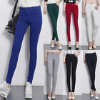 New Women's Casual Slim Fit Stretch Skinny Basic Leggings Pencil Pants Trousers