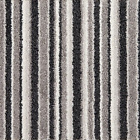 SPLENDID SAXONY Grey Black White Striped Carpet Felt Back Stairs Hall Landing
