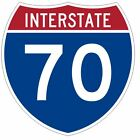 Amadeo Home Decor Shop Interstate 70 Sticker Decal R918 Highway Sign