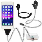 Flexible Stand Metal Mount Charger Charging Cable Fr iPhone Android Micro/Type-C