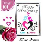 PERSONALISED WEDDING ANNIVERSARY GIFT ONE YEAR ANNIVERSARY GIFT CARDS SIGN