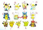 lot DIY Pikachu Pokemon elves Metal Charms Pendant Earrings Jewelry Making