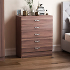 Riano 5 Drawers Wood Chest Metal Handles Hardboard Bedroom Storage Furniture <br/> NEXT DAY DELIVERY IF ORDERED BY 2PM - CHEAPEST ON EBAY