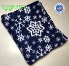 "ZooFleece Blue Snowflakes 60X68"" Blanket Throw Quilt Winter Christmas Gift Snow image"