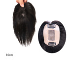 "7X10CM /3x4""Mono Remy Human Hair Topper Toupee Hairpiece Wig For Women"