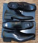 "SM NEW YORK ""KLIK"" MENS BLACK LONG-TOE BLACK PATENT LEATHER DRESS SHOES LIST $60"