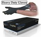 Unigloves Powder Free Commercial Black Nitrile Gloves Extra Strong Medium Large
