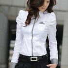 Women New Fashion Office Lady White Shirt Casual Design Top Formal Blouse