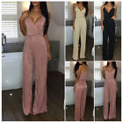 Women's Casual Sleeveless Bodysuit Playsuit Party Jumpsuit Romper Long Trousers