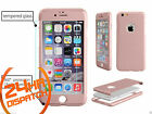 360° Body Protective Rosegold Back Case+Tempered Glass For iPhone 5 5s {[mk417