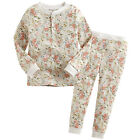 "Vaenait Baby Toddler Kids Girls Clothes Lacy Pajama Set ""Flower Beige"" 12M-7T"