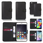 black faux leather wallet case cover for iphone models design ref z575
