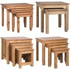 Nest of Tables 2 3 Table Units Solid Wood Living Room Side Lamp Coffee Furniture