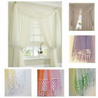 """VOILE & LACE SCARF - NOW £5.25 white, cream, Latte, Lilac 108"""" or 216"""" *SALE*"""