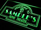 Personalized Home Theater LED sign Custom Name Neon light Sign family TV room