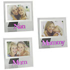 Glass 6 x 4 Photo Frame with Pink Glass Letters - Mum Mummy or Nan