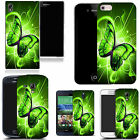 hard slim case cover for many mobiles - green twirl butterfly