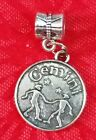 Charms Pendants - ANTIQUE SILVER ZODIAC SIGN CHARM HOROSCOPE ASTROLOGYWBAIL OR LOBSTER CLASP