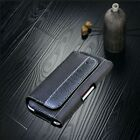 POUCH CASE FOR LARGE CELL PHONE RUGGED BLACK LEATHER CARRYING HOLSTER BELT CLIP