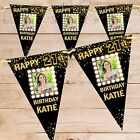 Personalised 18th 21st 30th 40th 50th Happy Birthday Flag Banner Bunting N76