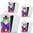 faux leather case cover for majority Mobile phones - butterfly compassion flip