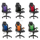 Swivel PU Leather Mesh Office Racing Gaming Style Computer Desk Chair