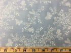Chambray Floral Butterfly Flowers Butterflies Cotton Fabric w3/8