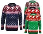 Mens Knitted Long Sleeves Jumper Fairisle Skiing Pocketed Top Pullover Sweater