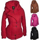 WINTER DAMEN JACKE PARKA KAPUZE WINTERJACKE OUTDOOR WARM DAUNEN OPTIK  MANTEL