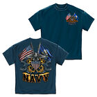 Licensed United States Navy Double Flag T-Shirt