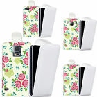 faux leather case cover for majority Mobile phones - sweet floral flip