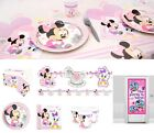 Baby Minnie Mouse Party Decoration Birthday Party Tableware Plates Cups Napkins