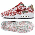 Nike Wmns Air Max 90 QS 813150-101 Gift Wrapped Xmas White/Red/Gold Women Shoes