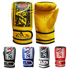 Leather Boxing Gloves Mitts Punch Bag Sparring MMA Training Gloves ADULTS