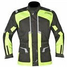 Akito Terra Men's Waterproof Textile Thermal Adventure Motorcycle Jacket Yellow