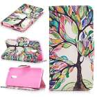 BF Premium PU Leather Wallet Case Pouch Flip Cover For Various Phones Trees