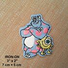 Monster Inc Disney Iron-on Cartoon Embroidery Patch Kids Monsters Applique