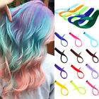 "20"" CLIP IN 10pcs Synthetic Human Hair Extensions Straight Multi-Color DIY 80g"