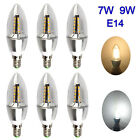 6/12×E14 4W 7W 8W 9W Dimmable LED Candle Light Bulb Lamp Warm/ Natural White A++