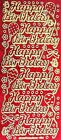 Sparkle Glitter HAPPY BIRTHDAY Balloons Butterfly Bows Dots PEEL OFF STICKERS