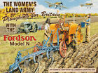 WOMAN'S LAND ARMY FORDSON TRACTOR RAF SPITFIRE METAL PLAQUE SIGN NOSTALGIC 419