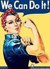WE CAN DO IT ROSIE THE RIVETER WAR POSTER METAL PLAQUE TIN SIGN NOSTALGIC 422