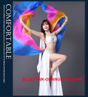 1Pair New 2017 Semicircle Belly Dance Costumes Performance Silk Veil Shawl Scarf