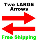 2 LARGE Directional Arrows Vinyl Decals Sign Rider Realtor A