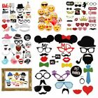 21/31pcs Wedding Photo Booth Prop Mustache on A Stick Birthday Party Game Selfie