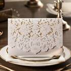 Personalised White Luxury Floral Lace Laser Cut Wedding Invitation Card Envelope