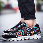 Graffiti Pattern Man Casual Canvas Lace-up Shoes Running Sport Fashion Sneakers